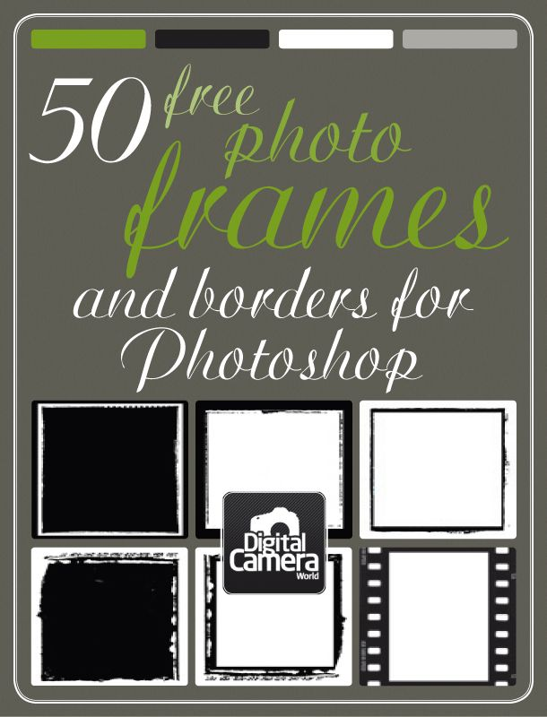 50 free photo frames and borders for Photoshop