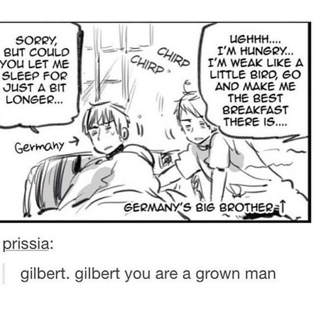 Germany & Prussia - Hetalia @wickedlover14  This only adds to my theory that you and I are Germany & Prussia