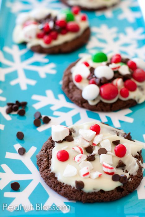 Peppermint candy bark cookies ...yummy!