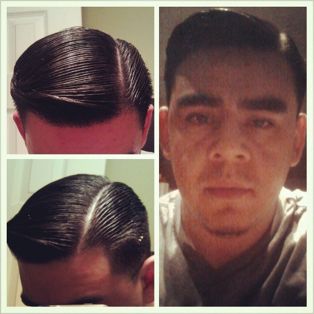 This should be easy enough to grease up the guys' hair!!