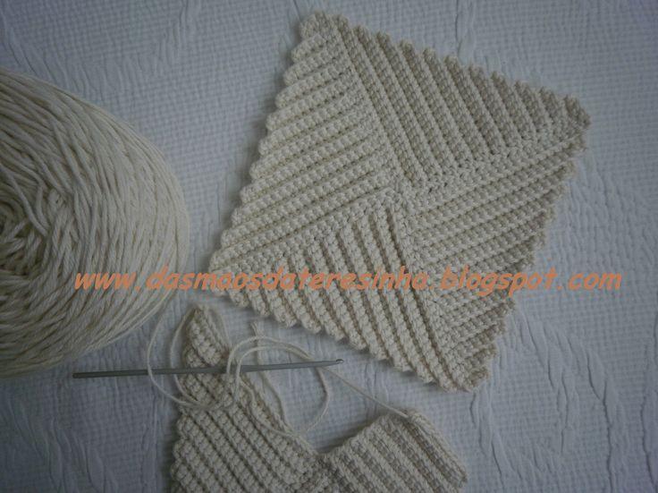 Das Mãos da Teresinha: Pegas feitas com um quadrado de croché