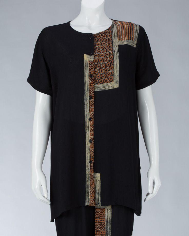 Top Long Sleeved Collarless #WomenSkirt #Dress #SummerFashion #Animale #WomenWear #WomenFashion #MotifClothes #LightClothes
