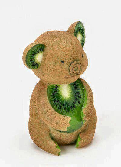 Koala Bear Kiwi Garnish (no instructions)