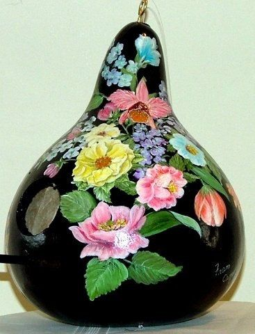 Hey, I found this really awesome Etsy listing at https://www.etsy.com/listing/181196820/hand-painted-gourd-birdhouse