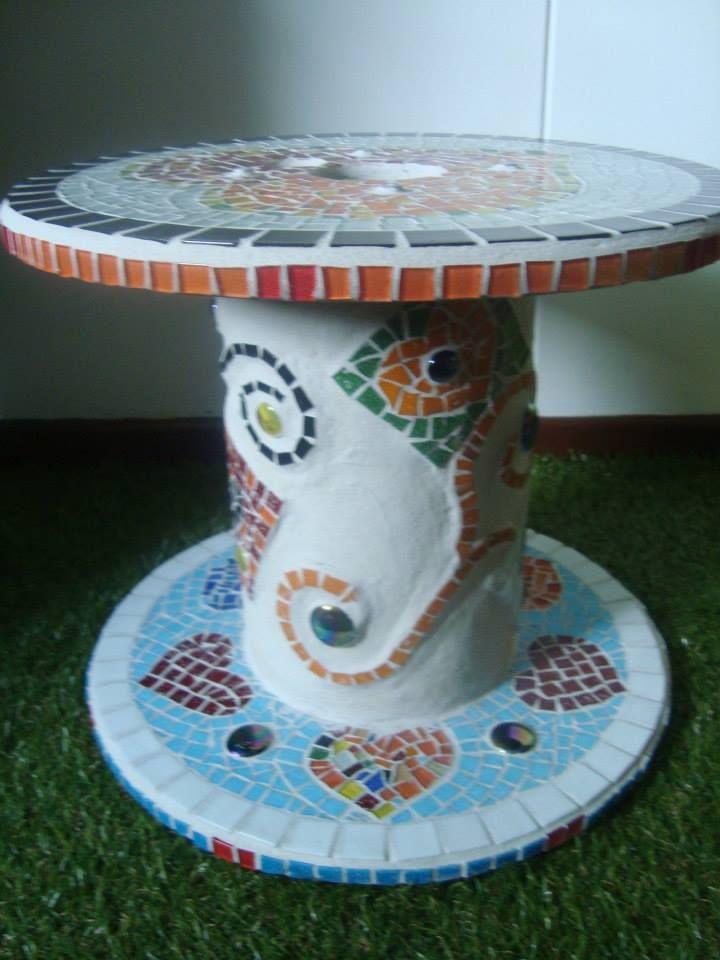 Cable Reel Recycling Taller Amar Arte En Mosaico Cali