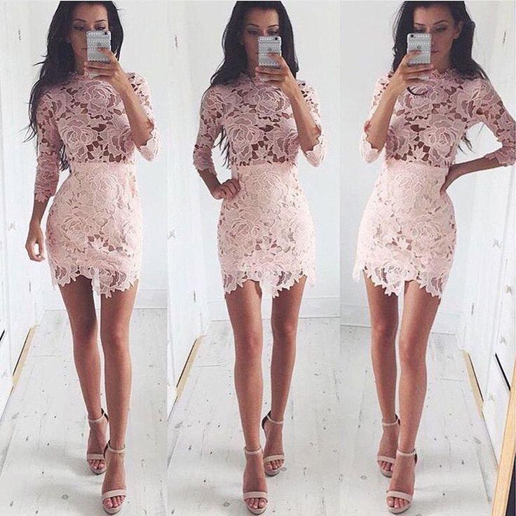 dress, homecoming dress, lace dress, pink dress, sheath dress, pink lace dress, fancy dress, scalloped dress, lace sheath dress, pink sheath dress, homecoming dress under 100