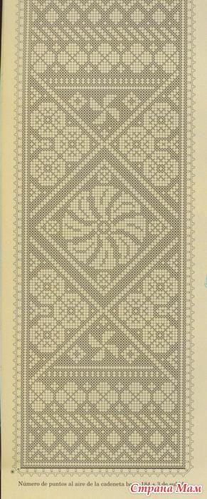 Орнаменты-2 - Филейное кружево - Страна Мам