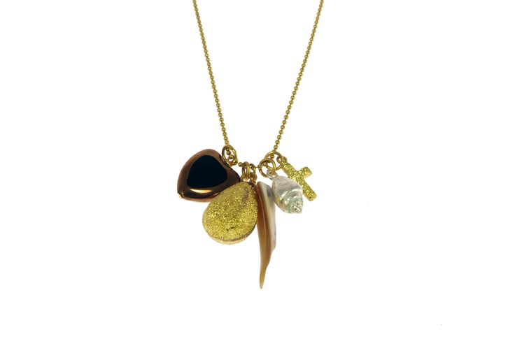 Sam Ubhi Costume - Gold Coloured  Necklace With 5 Charms