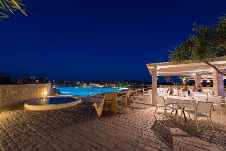 Enjoy these #summer nights with a glass of #wine by the pool! #PaliokalivaVillage #Zante