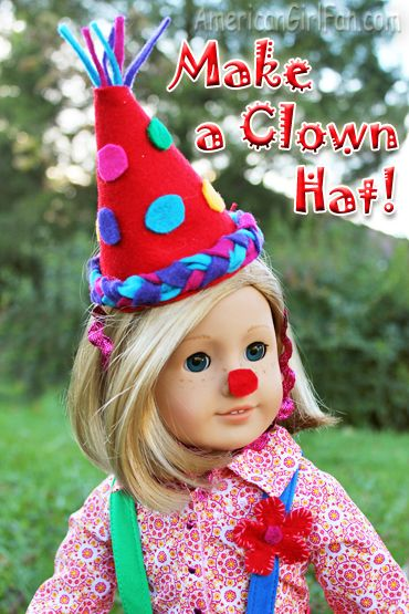 Make a doll clown hat tutorial