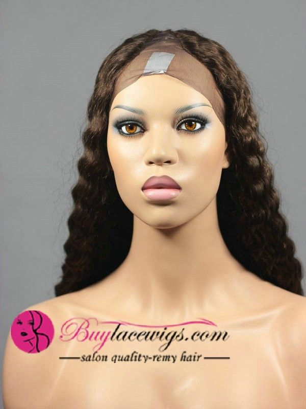 24 Inch #4 Deep Wave U Part Wig