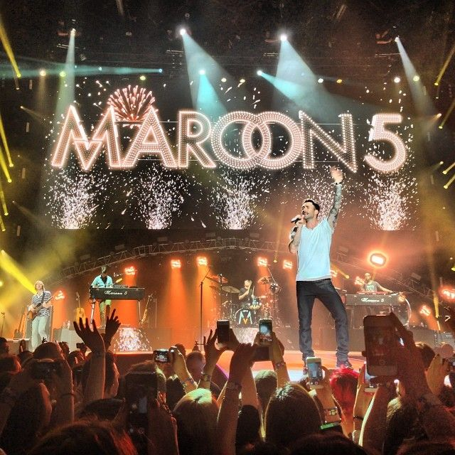 I would love to see Maroon 5 in concert. They are one of three artists I'd pay to see.