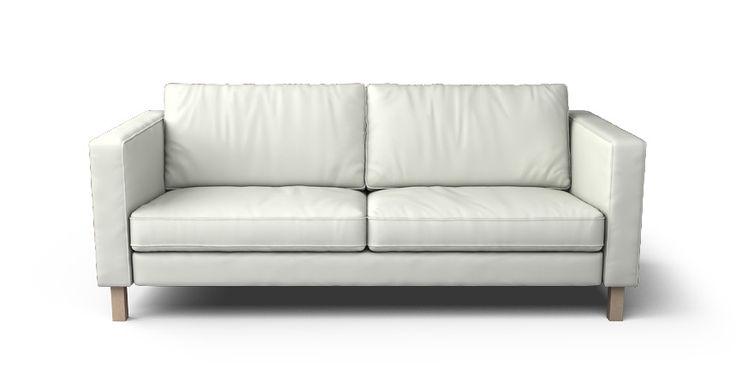 Ikea leather sofa covers // Karlstad 3 Seater Sofa Cover - Comfort Works Custom Slipcovers