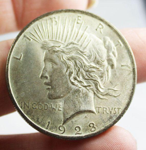 Antique Silver Coin  1923 Silver Peace Dollar by JBGAtticTreasures, $30.00