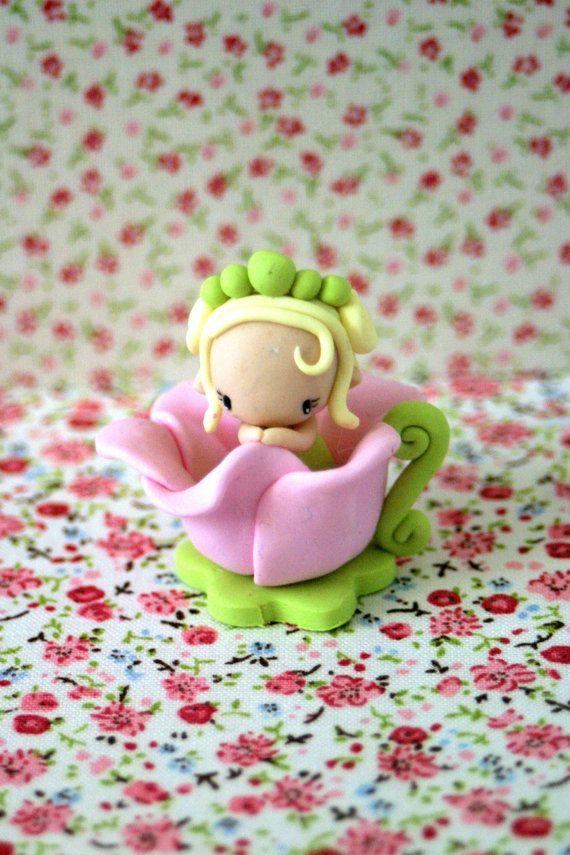 Fairy figurine made of polymer clay around 7cm.