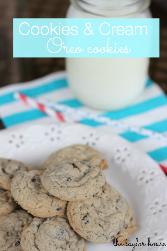Cookies, Oreo Cookies, Cookies & Cream Cookie Recipe