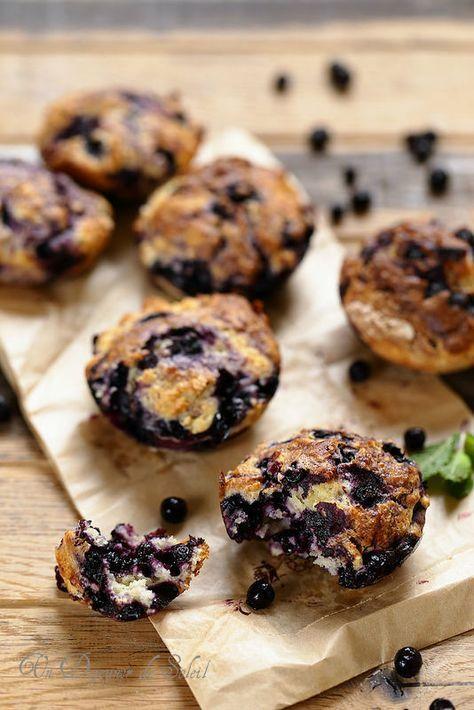 Muffins aux myrtilles, la recette super facile et parfaite !
