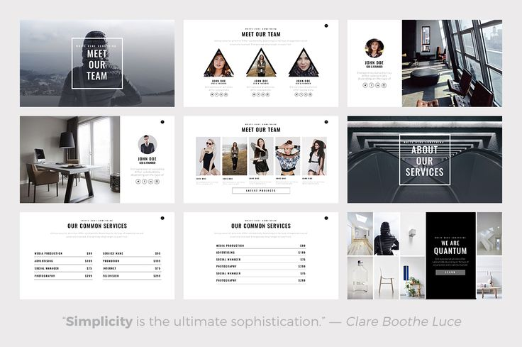 Quantum Minimal PowerPoint Template by Slidedizer on @creativemarket