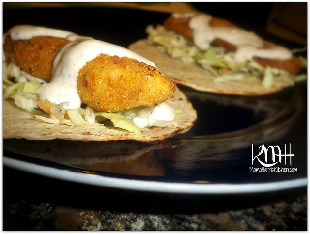 Fish tacos with creamy fish taco sauce recipe white for White fish tacos