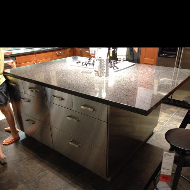 Stainless steel cabinets at ikea kitchen ideas pinterest for Stainless steel kitchen countertops ikea