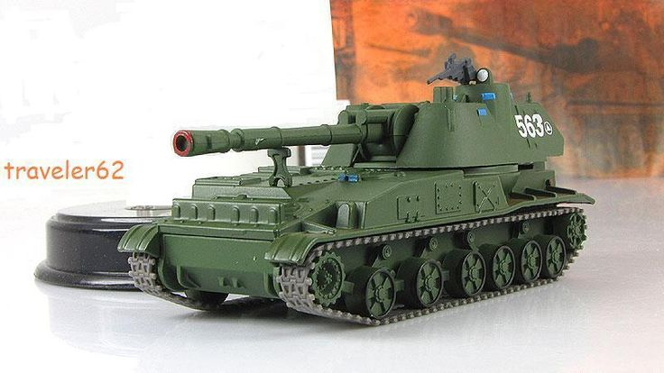 1:72 2S3 Akatsiya 152.4 mm self-propelled artillery model  №57 Russian Tanks #gefabbri