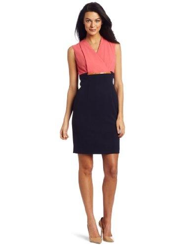Calvin Klein Women's Lux Surplice Dress
