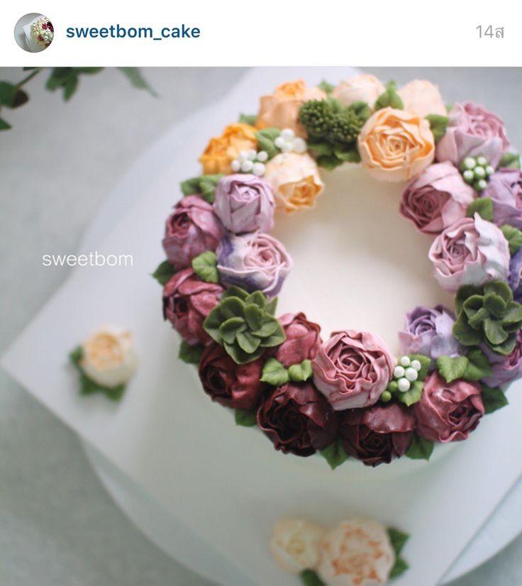 Korea 3D flower creamcake