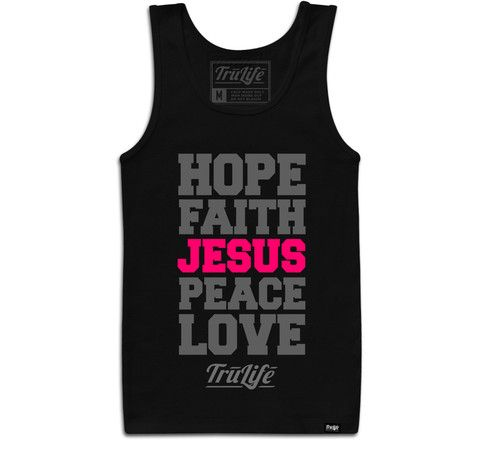 Ladies Jesus Tank Top Trendy Christian Apparel.   www.trulifeapparel.com ...    #hoodie #streetwear #god #jesus #streetgear #swag #swagwear #shoes #tees #TrulifeApparel #TruLife #trending #love #london #newyork #fashionista #fashion #christian #christianapparel #christianclothing #clothing #brands #wow #tees #follow #followme #inspiration #white #love #instagood #tank #girl # pink #gym #workout #gymgear #sportyChristian Apparel.   www.trulifeapparel.com ...    #hoodie #streetwear #god #jesus…