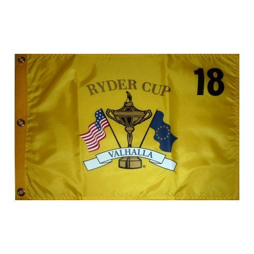2008 Ryder Cup Valhalla Yellow Golf Pin Flag  Team USA Champion *** You can get additional details at the image link.