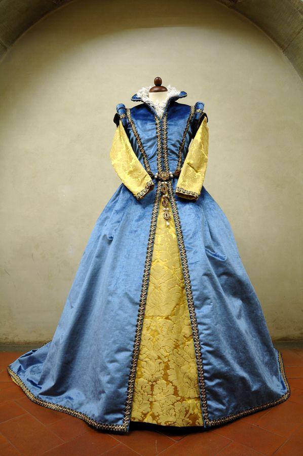 woman blue dress