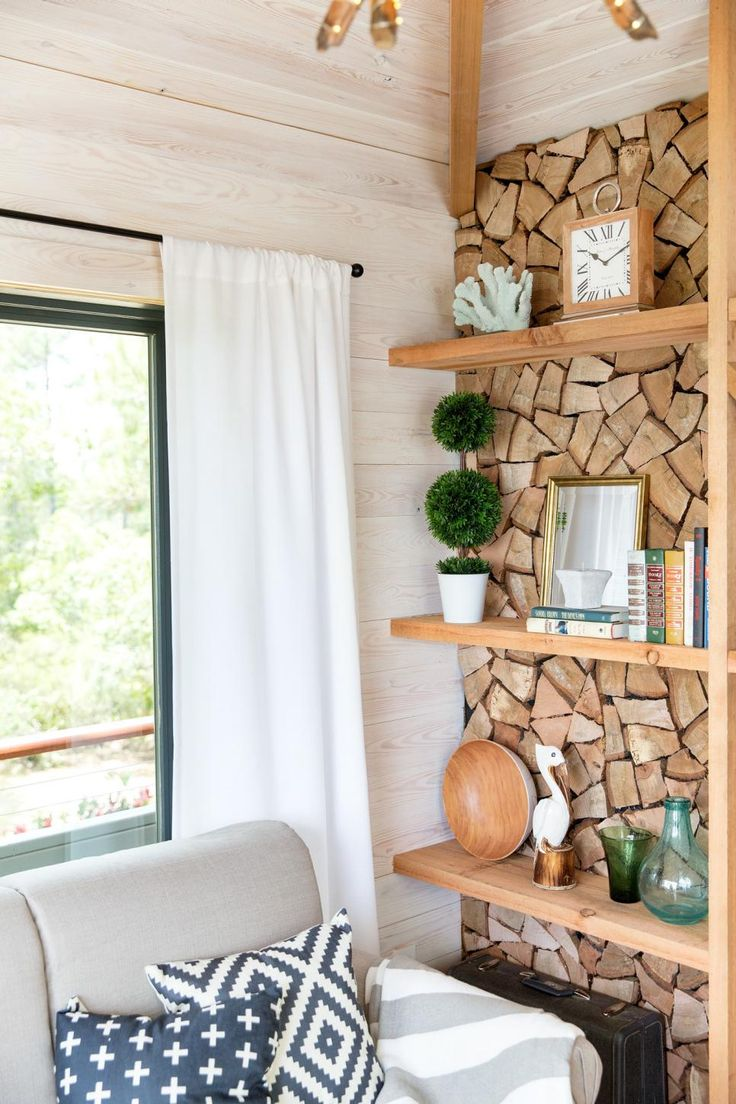 A tree house-inspired space tucked away in an adjacent wooded area creates the perfect nook to rest and relax, while an elevated walkway makes it accessible from the main house. >> http://www.diynetwork.com/blog-cabin/2016/sky-cabin-pictures-from-diy-network-blog-cabin-2016-pictures?soc=pinterest