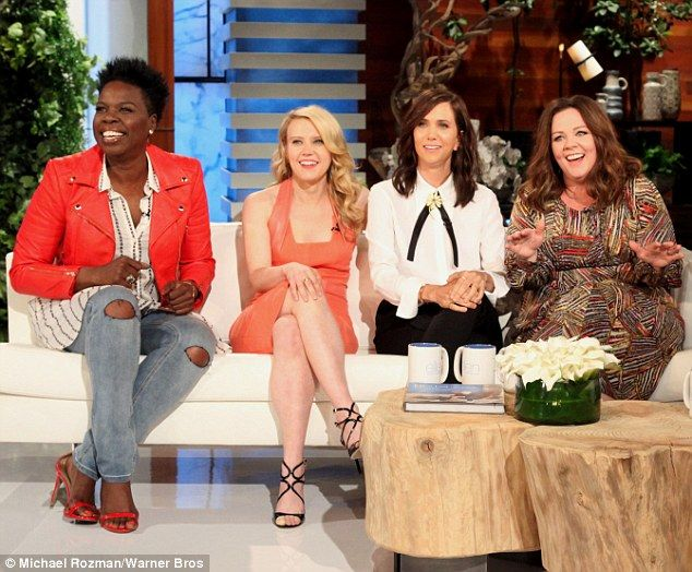 Fantastic four: The cast of Ghostbusters: Leslie Jones, Kate McKinnon, Kristen Wiig and Me...