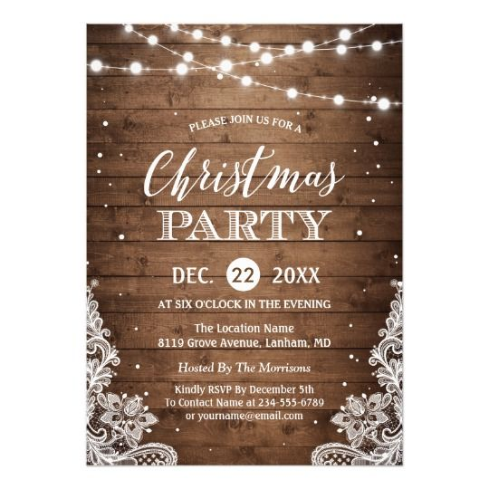 550 best Christmas Holiday Party Invitations images on Pinterest - invitation wording for christmas dinner party