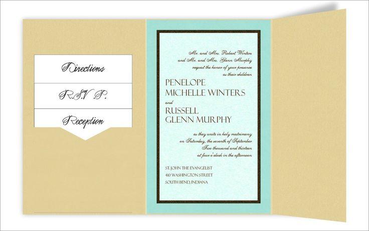 6 x 9 Gate Folio Pocket Wedding Invitations  - 3 Layers by MyGatsby.comLayered, Pocket Wedding Invitations, Gates Folio, Folio Pocket