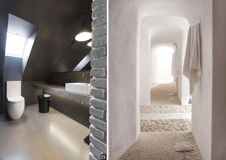 douche enduit chaux enduits naturels murs chaux et argile pinterest chaux douches et la. Black Bedroom Furniture Sets. Home Design Ideas
