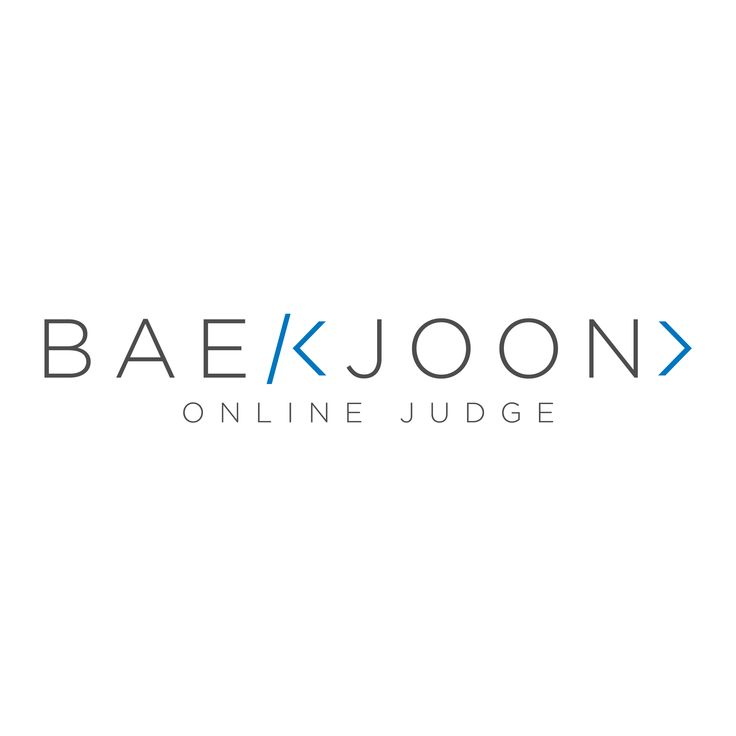 Baekjoon Online Judge
