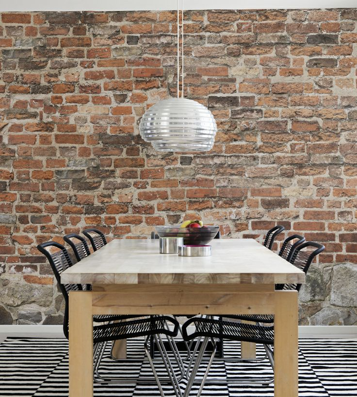 Rustic Living | Old Brick Wall Wallpaper by Mr Perswall | Jane Clayton