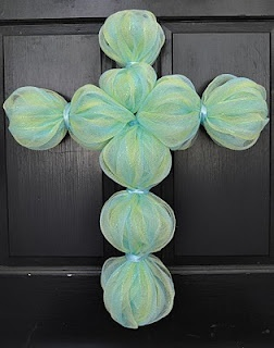 Easter Cross for Door... I want one in purple!! :)