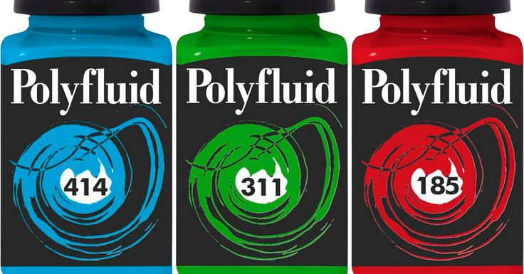 Härliga blanka akrylfärger - Polyfluid
