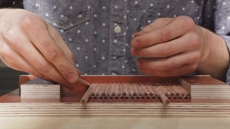 This Guy Took A Bunch Of Pencils And Had A Crazy Idea. The Result Seems Impossible.
