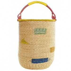 Our Hubba Basket - the perfect laundry basket.  Available to buy online at everythingbegins.com with worldwide shipping!