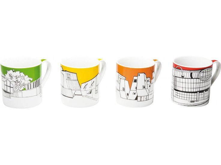 Kubek Buildings Pop I Różne Kolory — Kubki — KARE® Design
