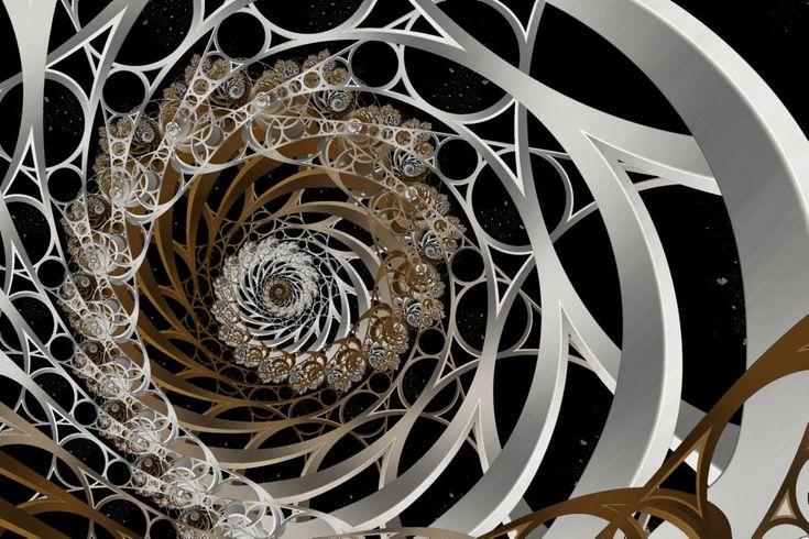 Fractal: Steiner Chain Orbit Trap - fractal science kit fractal generator