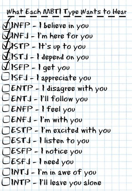 What Each MBTI Type Wants to Hear @ Personality Geek