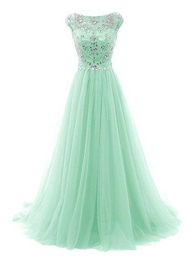 Tideclothes Long Beads Prom Dress Tulle Cap Sleeves Evening Dress Mint US2 Tideclothes http://www.amazon.com/dp/B017VYTDYQ/ref=cm_sw_r_pi_dp_oFE6wb1FF7HYT