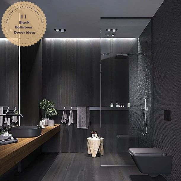 11 Black Luxury And Modern Bathroom Designs That Will Amaze You Page 11 Of 11 Your Interior Designer In 2021 Modern Luxury Bathroom Bathroom Design Black Bathroom Decor Luxury