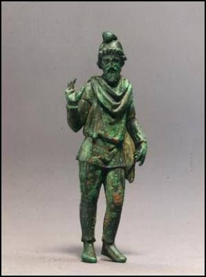 Bronze Statuette of a Barbarian (specifically a Phrygian, although to Romans anyone who was not a citizen was by definition a barbarian) , Roman 1-100 CE.
