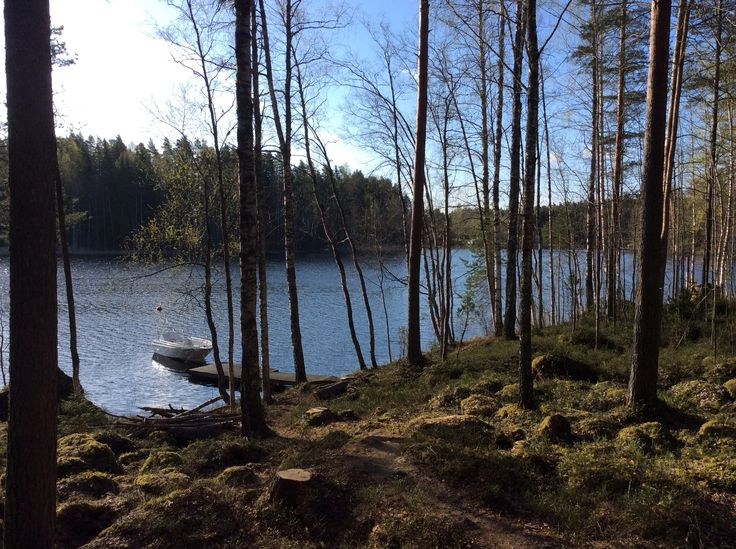 Lovely spring morning in lake Ruotsalainen.