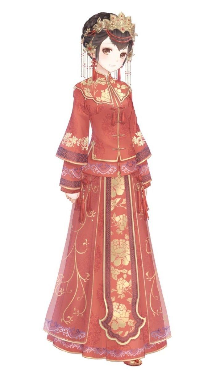 """暖暖环游世界 动漫 人设 绝美中国风婚服之""""红妆牡丹"""" 服装 造型"""