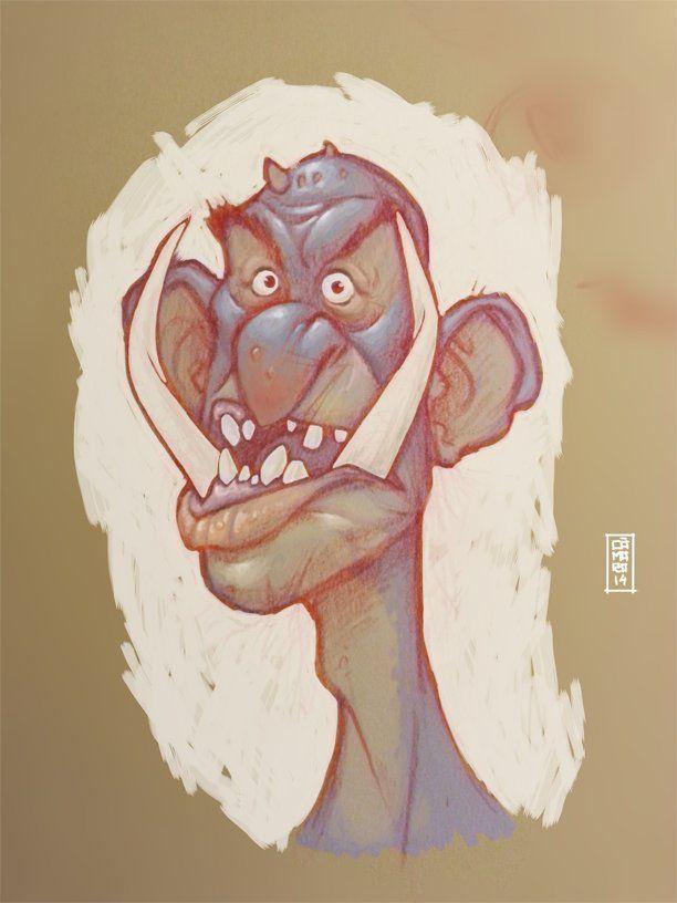 Troll portrait, Alberto Camara on ArtStation at https://www.artstation.com/artwork/troll-portrait